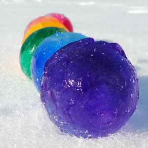 rainbow ice orbs